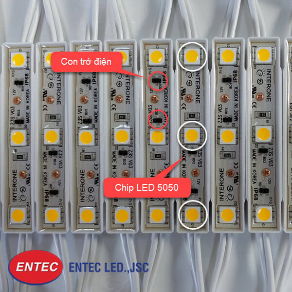 Chip Led samsung 5050 của đèn Led Interone