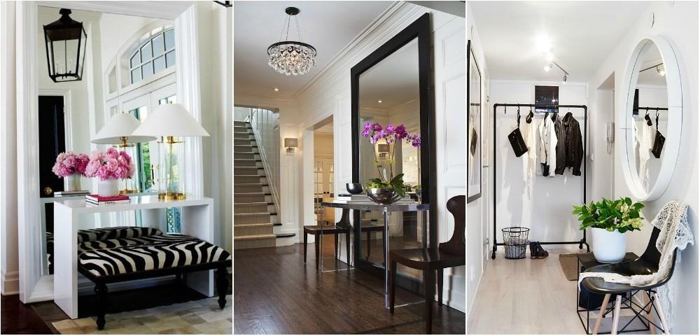 Việc kết hợp giữa gương và led giúp không gian hành lang thoáng hơn