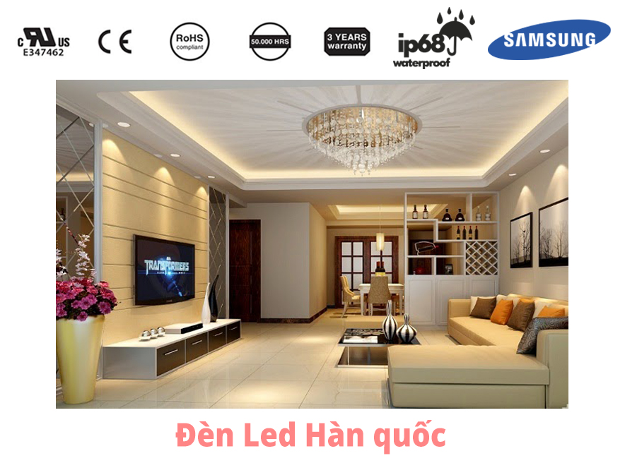 Đèn trần thạch cao sử dụng module LED của hãng Interone Hàn Quốc