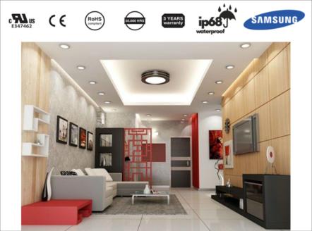 Đèn LED ốp trần cho không gian phòng khách sang trọng đẳng cấp