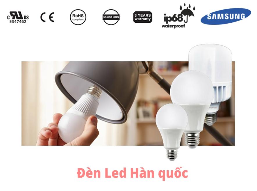 Các loại bóng đèn khác nhau như bóng đèn sợi đốt, huỳnh quang halogen và đèn led