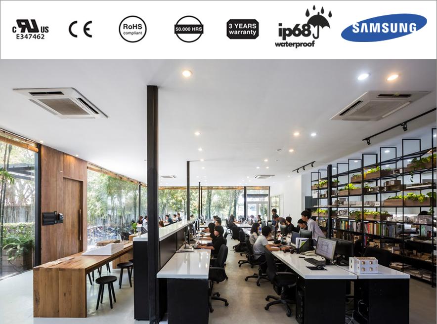 Thiết kế hệ thống chiếu sáng văn phòng tối ưu làm việc hiệu quả