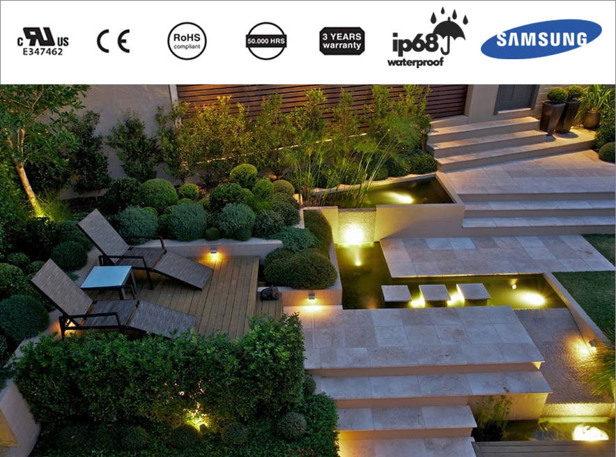 Xu hướng chiếu sáng cảnh quan sân vườn bằng đèn LED pha