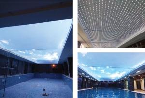Trần xuyên sáng bể bơi vô cực