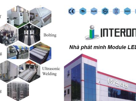 INTERONE đạt doanh thu xuất khẩu module LED Hàn Quốc lớn nhất. Mạch LED của Interone đã được cấp bằng sáng chế là công nghệ tiên tiến nhất trong ngành công nghiệp Hàn Quốc và được sự công nhận của toàn thế giới về kỹ thuật xuất sắc và chất lượng vượt trội.