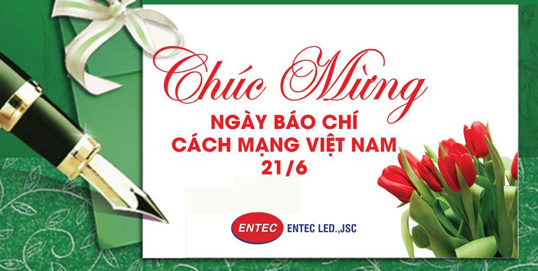 ENTEC LED chúc mừng ngày báo chí Việt Nam