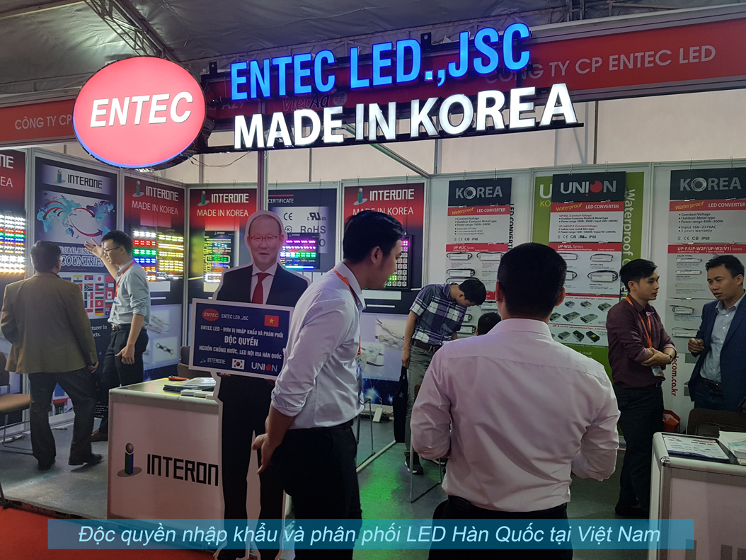 ENTEC LED.,JSC là đơn vị độc quyền nhập khẩu và phân phối LED Hàn Quốc và nguồn cấp 12v