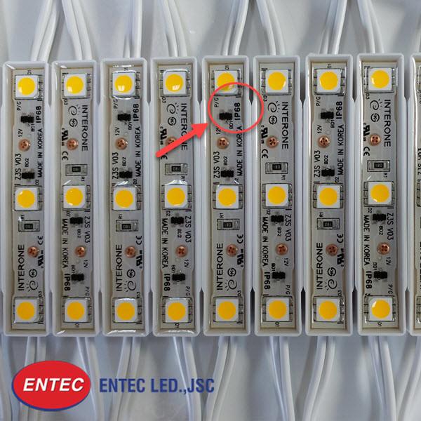 Chỉ số IP68 là cơ sở cho việc sử dụng module led ngoài trời