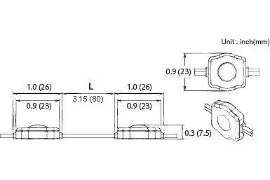 Thông số kích thước của Module LED 1 bóng có len