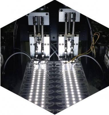 Máy bắt vít tự động nối bản mạch với dây nguồn