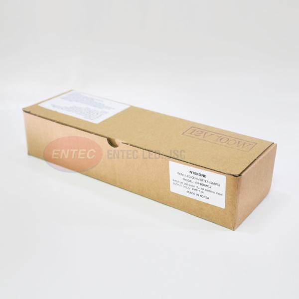 Quy cách đóng gói được đựng trong hộp bìa cacton của bộ nguồn led 100w