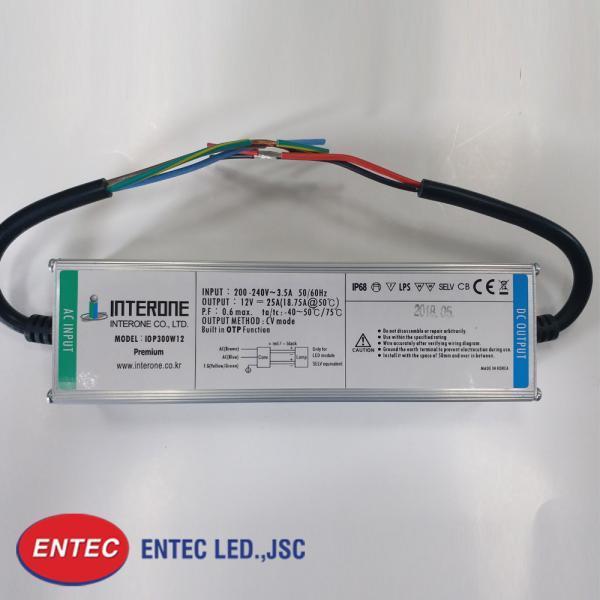 Bộ nguồn led 12v korea chống nước 300w siêu mỏng