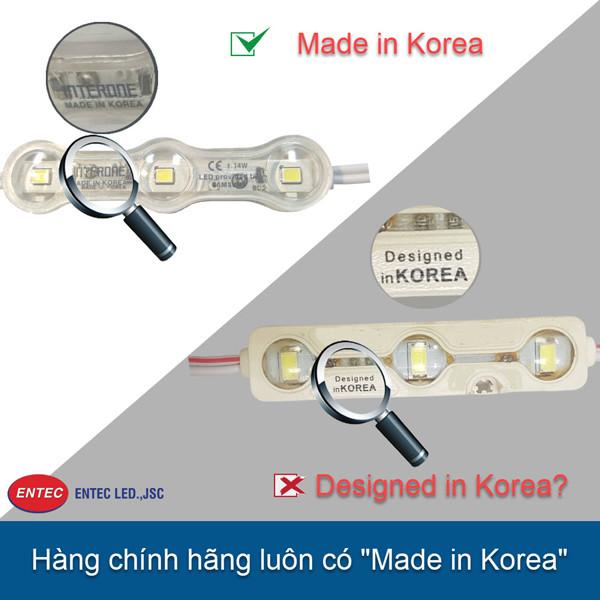 """Sản phẩm chính hãng Hàn Quốc phải được ghi chú """"Made in Korea"""" trên sản phẩm"""