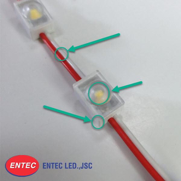 Cấu tạo của module LED 1 bóng có len mini bao gồm 3 bộ phận