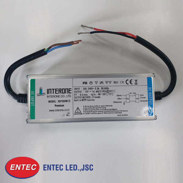 Bộ nguồn LED chống nước 200W Prenium với thiết kế tối ưu hơn, nhỏ gọn hơn