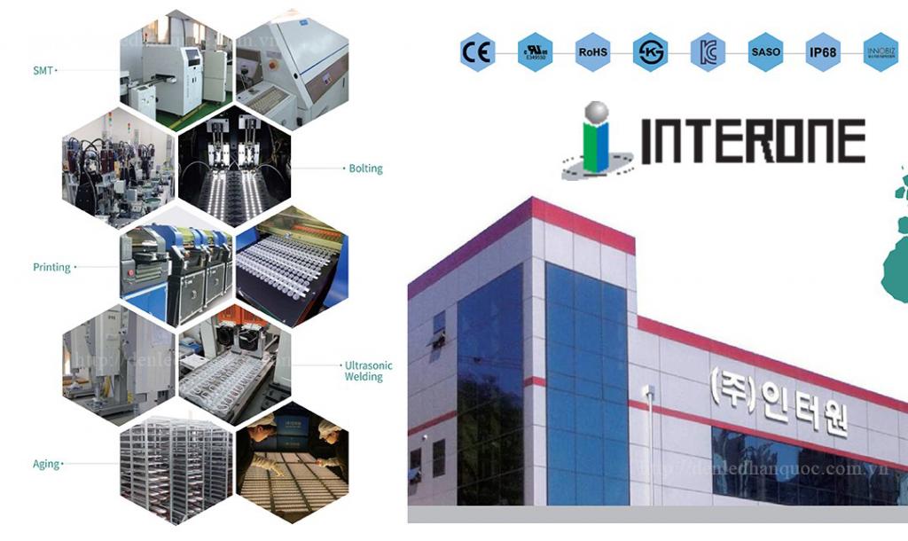 Sản xuất tại nhà máy của Tập đoàn INTERONE Hàn Quốc