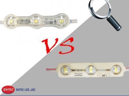 Phân biệt module LED 3 bóng có len chính hãng Hàn Quốc Interone với module LED 3 bóng khác, hàng giả, nhái trên thị trường