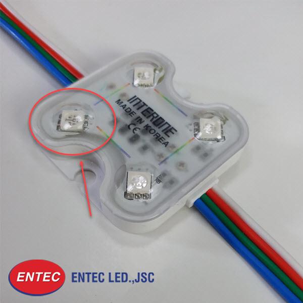 Lớp len bảo vệ chip LED đồng thời mở rộng góc chiếu sáng hơn 140 độ và 160 độ