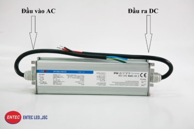 Nguồn đèn LED Hàn Quốc UNION với 2 đầu dây dẫn AC và DC