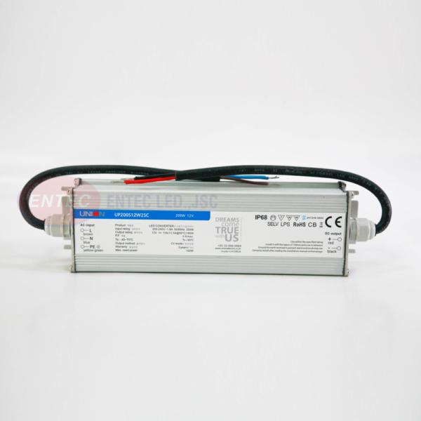 Nguồn LED UNION công suất 200W IP68 chống nước, kín nước, dùng ngoài trời