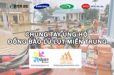 ENTEC LED., JSC phát động chương trình cứu trợ miền Trung