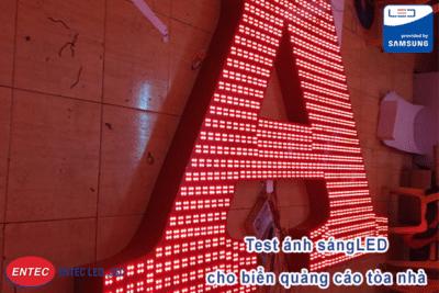 Test ánh sáng LED cho biển quảng cáo tòa nhà
