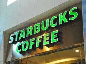 Biển quảng cáo của Starbucks