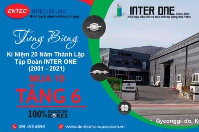 Mua 10 tặng 6 nhân dịp kỷ niệm 20 năm thành lập Tập đoàn INTER ONE